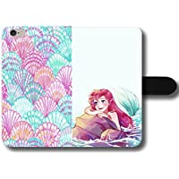 Little Mermaid Ariel Disney Princes Seashell Pattern Magnetic Clasp Holder Phone Case Cover for Samsung Galaxy S8