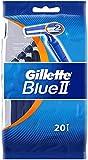 Gillette Blue II Disposable Razors with 20 Razors