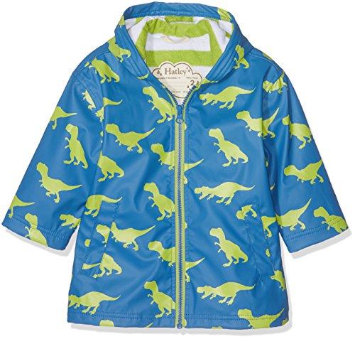 Hatley Jungen Regenmantel Zip Up Splash Jacket Blue (Silhouette T-Rex), (Hersteller Größe:7) (Kreide-streifen-hose)