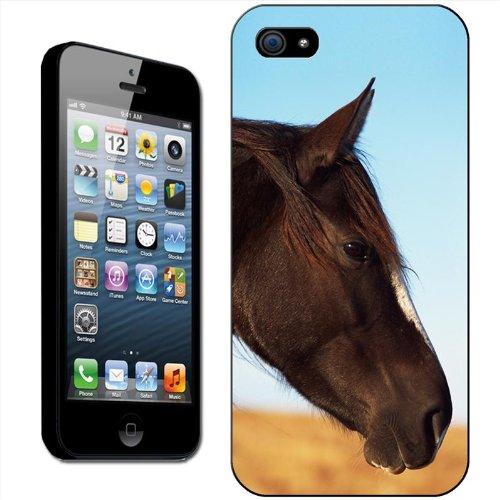 Fancy a snuggle Coque arrière rigide clipsable pour Apple iPhone Motif tête de cheval, plastique, Tête de cheval marron, iPhone 5/5s