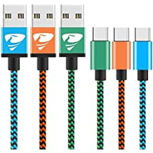[3pack] Cable USB Tipo C a USB C 2m Cable Nylón de Aluminio para Carga y Transmisión de Datos para Samsung Note 8 / S8 , Nintendo Switch , One Plus 3 / 2 , MacBook Pro 2016 , Nexus 6P / 5x Rephoenix