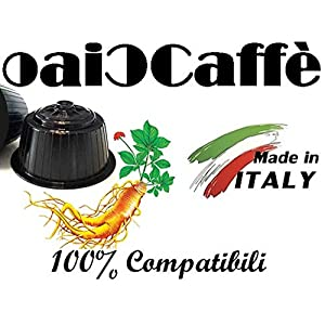 CiaoCaffè 50 Capsule Compatibili Nescafè Dolce Gusto GINSENG