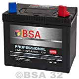 Rasentraktor Aufsitzmäher Batterie 32Ah 12V Starterbatterie absolut WARTUNGSFREI Pluspol Rechts 30Ah