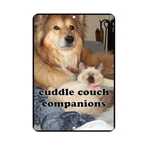 Cuddle Couch Gefährten Home Decor Metall Schild für Outdoor Yard Sicherheit Schild