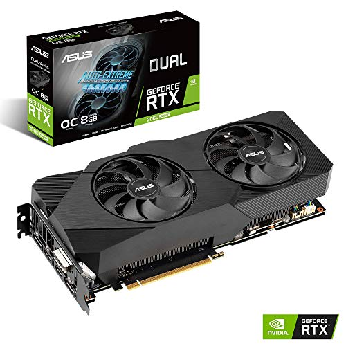 ASUS Nvidia GeForce RTX 2060S DUAL EVO OC 8G Super Gaming Grafikkarte (PCIe 3.0, 8GB DDR6 Speicher, HDMI, Displayport, USB Type-C) (Grafikkarten-gaming)