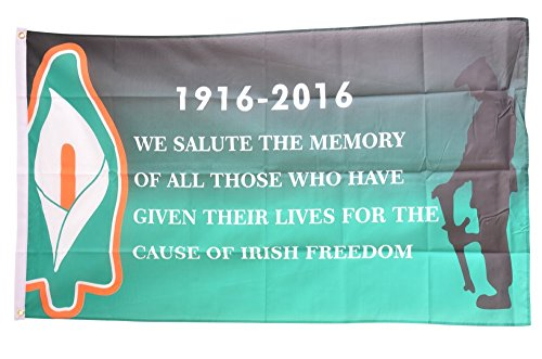Fahne / Flagge Irland Irish Freedom 1916-2016 + gratis Sticker, Flaggenfritze® Irish China