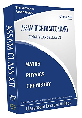 AVNS INDIA Assam Higher Secondary Final Year (Class XII) Combo Pack- Physics, Chemistry and Maths Full Syllabus Teaching Video (DVD)