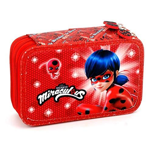 Miracoules ladybug astuccio 3 zip completo scuola 2018/2019
