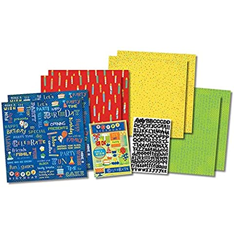 Karen Foster Various Scrapbook Page Kit 12-Inch x 12-Inch-Party Time Birthday