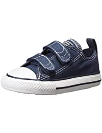 KIDS CONVERSE ALL STAR 3 STRAP LOW BLACK SIZE 1.5 Athletic Navy 10 M US Toddler