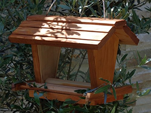 vogelhaus mit ständer BEL-X-VOFU2G-MS-dbraun002 Großes PREMIUM Vogelhaus mit ständer + 3D-Riesensilo / Futterschacht Futterautomat MASSIV + WETTERFEST, QUALITÄTS-SCHREINERARBEIT-aus 100% Vollholz, Holz Futterhaus für Vögel, MIT FUTTERSCHACHT Futtervorrat, Vogelfutter-Station Farbe braun dunkelbraun behandelt / lasiert schokobraun rustikal klassisch, Ausführung Naturholz, mit KLARSICHT-Scheibe zur Füllstandkontrolle - 3