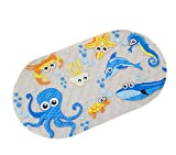 Kauftree Baby kinder Badematte Badteppich Badewannenmatte Antirutsch Rutschfest Cartoon mit Saugnäpfe für Badewanne (#2 Meer)