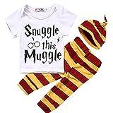 Tenue bébé Fille Garçon T-shirt + Legging + bonnet Thème Harry Potter