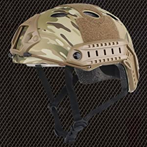 Emerson Casque Fast PJ de type SWAT pour airsoft et paintball Camouflage