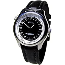 Union Flieger 1268 Sociedade de Relojoaria Independente - Reloj, correa de cuero color negro