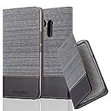 Cadorabo Book Case works with HTC U11 PLUS in GREY BLACK -