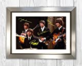 Engravia Digital The Beatles (5) Poster, signiert, Reproduktion, Foto, A4 Silver Frame