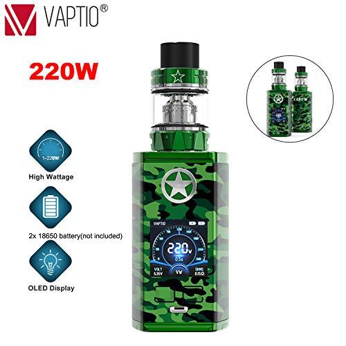 Vaptio CAPT'N paragon Kit 220W Cigarrillos electrónicos E-Cigarette TPD Cumple, Sin Tabaco y Sin Nicotina (4ml, Verde)