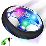lenbest Kinderspeelgoed Hover Soccer Ball, oplaadbare Air Power drijvende voetbal met LED-licht, Foam Bumper & Whistle, Indoor Outdoor Sport Ball Game Gifts Toy voor jongens Meisjes