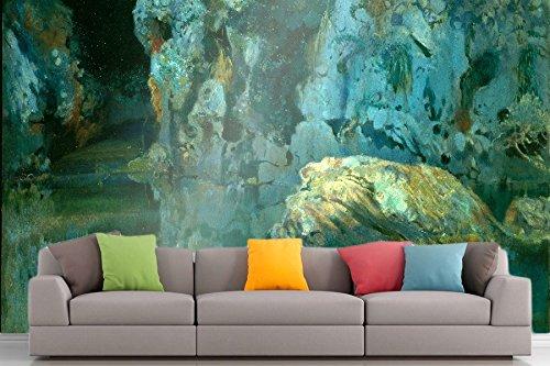 Roshni Arts®-kuratierte Art Wall Mural-Joaquim mir-Der Rock in den Teich | selbstklebend Vinyl Ausstattung Décor Art Wand-243,8x 182,9cm