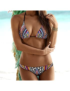 Conjuntos de Bikini Sexy traje de baño Trajes de baño Trajes de Baño Tendencia de adelgazamiento bañador Split...
