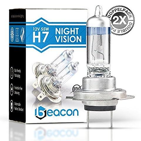 Beacon H7 Night Vision Scheinwerferlampe, Passt in alle PKW mit