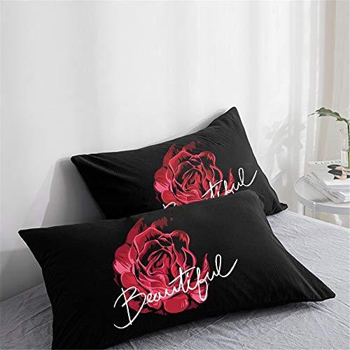 YUNSW Blumen 3D Digitaldruck Kissenbezug Weiche Mikrofaser Sofa Auto Dekoration Bettwäsche C 65x65 cm 2 stücke