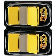 Post-it 680-YW2 Haftstreifen Index Standard, 2 x 50 Haftstreifen im Spender, 25.4 x 43.2 mm, gelb
