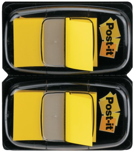 post-it-index-flags-dual-pack-25mm-yellow-50-flags-x-2