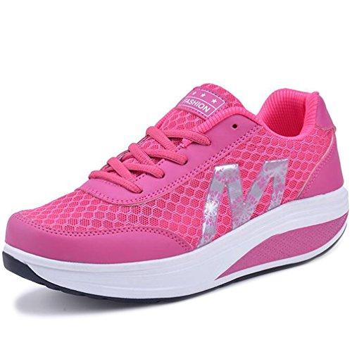 Solshine Damen Fashion Plateau Schnürer Sneakers mit Keilabsatz WALKMAXX Schuhe Fitnessschuhe (Sneaker Fashion)