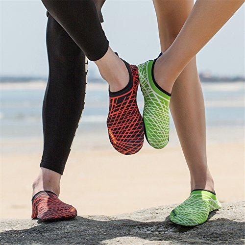 Unisex Strandschuhe Aquaschuhe Breathable Schlüpfen Schnell Trocknend Schwimmschuhe Surfschuhe für Damen Herren Kinder Baby Grün