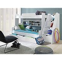 Furnistad Etagenbett Luna | Kinder Stockbett mit Treppe und Bettkasten preisvergleich bei kinderzimmerdekopreise.eu