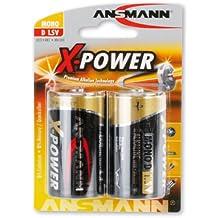 ANSMANN X-Power Alkaline Batterie Mono D LR20 Longlife Alkalibatterie für extrem hohen Strombedarf (2er Pack)