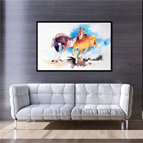 Leinwanddrucke, Modernen Afrika Dschungel Wildes Tier Pferd, Wall Art Bild Poster Drucken Home Einrichtung Kein Rahmen Für Büro, Küche, Schlafzimmer, Wohnzimmer, Flur, Shopping Mall, 20 × 25 Cm
