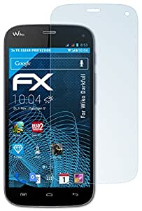 3 x atFoliX Film Protection d'écran Wiko Darkfull Protecteur d'écran - FX-Clear ultra claire