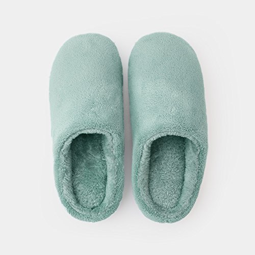 DogHaccd pantofole,Home Inverno indoor pantofole di cotone coppie femmina soggiorno caldo inverno anti-slittamento lana spesse pantofole uomini cadono.,Verde scuroRosa Verde scuro2