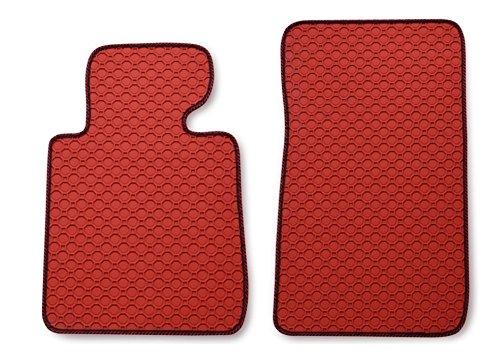 Vestibilità Tappetino in gomma Octagon Duo Rosso con rosso e nero, bordatura–adatto per il veicolo di voi selezionati, Vedi descrizione articolo