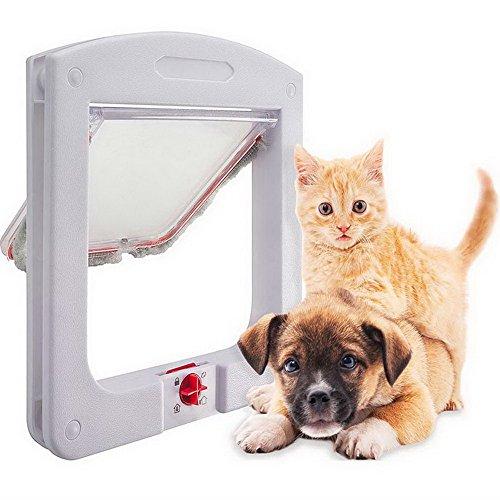 Roblue Gattaiola per gatti con tunnel Cache taglio Gattaiola cane porta di gatto bianco 24.4cmx20.3cmx3cm