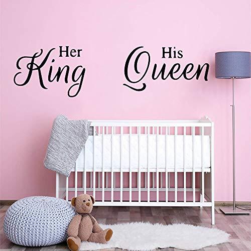 HFWYF Cotizaciones King Queen Vinyl Wall Sticker Decor