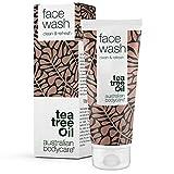 Australian Bodycare Face Wash - 100% Vegane Gesichtswäsche mit Natürlichem Teebaumöl - Gesichtswasser Gegen Pickel, Mitesser und Unreine Haut.