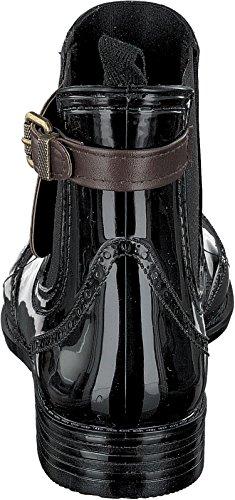 Gosch Shoes Sylt - Donna Chelsea Stivali di gomma Caucciù naturale 7103-502 in 3 Colori marrone-nero