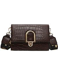 5d58f8e55 Bolsos de mano La banda ancha Bag Lady moda patrón de cocodrilo plaza  pequeña bolsa con