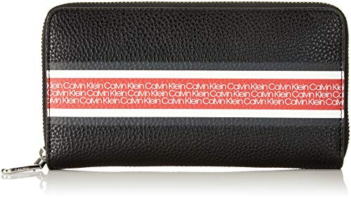 f290cb27d26 Calvin Klein Race Large Ziparound - Portafogli Donna, Nero (Black),  12.5x20x3