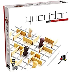 Gigamic QRM Quoridor Mini - Juego de estrategia con piezas de madera (de 2 a 4 jugadores, importado de Alemania)