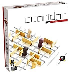 juegos de estrategia: Gigamic QRM Quoridor Mini - Juego de estrategia con piezas de madera (de 2 a 4 j...