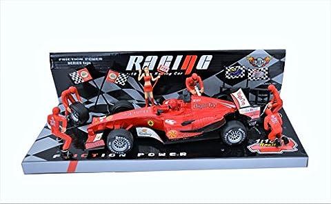 Spielzeug F1 2017 Toys Spielzeug für Jungs Rennwagen Modell Auto on race Racing Cars Race Track Sets Rot 1:18 [26 см] Knder Spielzeug Garage Spielzeug Cars Spielzeug Jungen (Diecast Pit)
