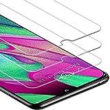 Zloer [Pack de 3] Samsung Galaxy A40 Film Protection Ecran Verre Trempé - [9H Dureté] [Anti Rayures] [sans Bulles, Facile à Installer] Protection Ecran Samsung Galaxy A40