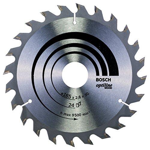 BOSCH 2 608 640 602  - HOJA DE SIERRA CIRCULAR OPTILINE WOOD - 165 X 30 X 2 6 MM  24 (PACK DE 1)