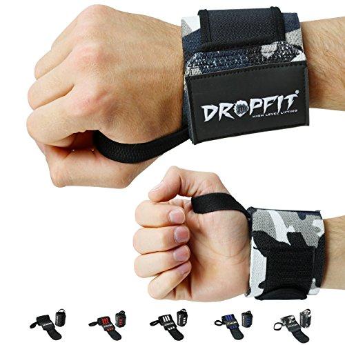DROPFIT Handgelenk Bandagen [Wrist Wraps] - 45 cm Handgelenkbandage für Fitness, Bodybuilding, Kraftsport & Crossfit - für Frauen und Männer