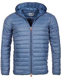 Geographical NorwayDuck WN461 –Anorak de plumas con capucha para hombre, color azul